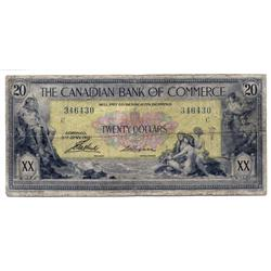 THE CANADIAN BANK OF COMMERCE.  $20.00.  Jan. 2, 1917.  CH-75-16-02-08.  No. 346430/C.  PCGS graded