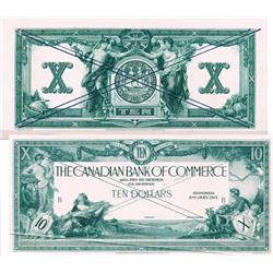 THE CANADIAN BANK OF COMMERCE.  $10.00. Jan. 2, 1917.  CH-75-16-02-06P.  Black and White Face and Ba