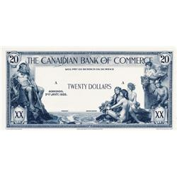 THE CANADIAN BANK OF COMMERCE.  $20.00.  Jan. 2, 1935.  CH-75-18-10P.  A Black and White progress Pr