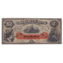 THE COMMERCIAL BANK OF NEWF.  $2.00.  Jan. 2, 1888.  CH-185-18-04.  No. 10635/B. Orange tint.   PMG