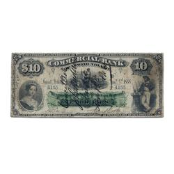 THE COMMERCIAL BANK OF NEWF.  $10.00.  Jan. 2, 1888.  CH-185-18-08.  No. 4155/C.  PMG graded Fine-12