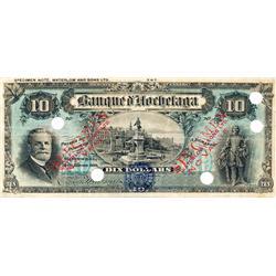 LA BANQUE D'HOCHELAGA.  $10.00.  Jan. 1, 1914.  CH-360-22-04S.  No. 347.  A Specimen.  PMG graded Ch