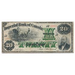 THE IMPERIAL BANK OF CANADA.  $20.00.  Oct. 1, 1915.  CH-375-16-16.  No. 149001/B.  PMG graded Very