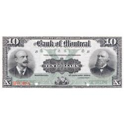 THE BANK OF MONTREAL.  $10.00.  2nd. Jan., 1904.  CH-505-48-04S.  A Specimen.  PCGS graded Unc-64. P