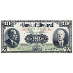 THE BANK OF MONTREAL.  $10.00.  Jan. 2, 1923.  CH-505-56-04S.  A Specimen.  PCGS graded Gem Unc-66.