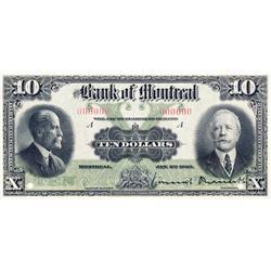 THE BANK OF MONTREAL.  $10.00.  Jan. 2, 1923.  CH-505-56-04S.  A Specimen.  PCGS graded Gem Unc-66.