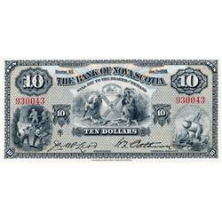 THE BANK OF NOVA SCOTIA.  $10.00.  Jan. 2, 1935.  CH-550-36-04.  No. 930043.  McLeod/Patterson.  PMG