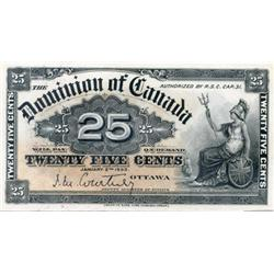 DOMINION OF CANADA.  25 CENTS.  Jan. 2, 1900.  DC-15a.  Courtney.  Choice Unc-63.  Ex. TICF auction,