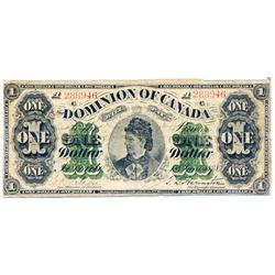 DOMINION OF CANADA.  $1.00.  June 1, 1878.  DC-8f-i.  Payable at Toronto.  No. A288946/B.  Very Good