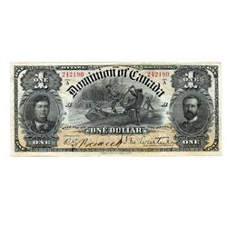 DOMINION OF CANADA.  $1.00.  March 31, 1898.  DC-13a.  No. 242180/B.  PMG graded Extra Fine-40. EPQ.