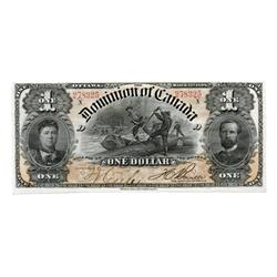 DOMINION OF CANADA.  $1.00.  March 31, 1898.  DC-13c.  No. 278325/D.  PCGS graded AU-55.  PPQ.  A su