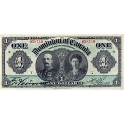 DOMINION OF CANADA.  $1.00.  Jan. 3, 1911.  DC-18a.  No. 058740. Green Line.  PCGS graded Very Fine-