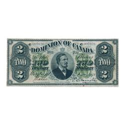DOMINION OF CANADA.  $2.00.  June 1, 1878.  DC-9a.  Payable at Montreal.  No. 097876/C.  PCGS graded