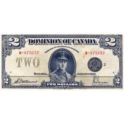 DOMINION OF CANADA.  $2.00.  June 23, 1923.  DC-26f.  Black Seal.  No. M-875632/C.  PCGS graded Very