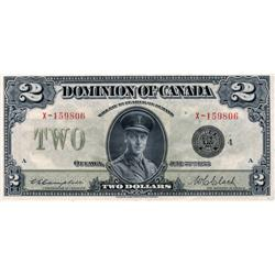 DOMINION OF CANADA.  $2.00.  June 23, 1923.  DC-26l.  Campbell-Clark.  No. X-159806/A.  Black Seal.