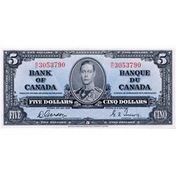 BANK OF CANADA.  $5.00.  BC-23b.  Gordon-Towers.  No. R/C3053790.  Choice Unc-63.