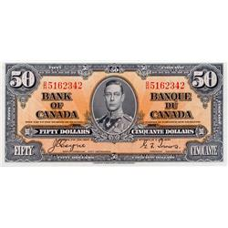 BANK OF CANADA.  $50.00.  1937 Issue.  BC-26c.  Coyne-Towers.  No. B/H5162342.  PMG graded Choice Un