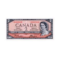 BANK OF CANADA.  $2.00.  1954 Issue.  BC-30bA.  'Devil's Face' Issue.  Beattie-Coyne.  No. *A/B00080