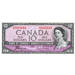 BANK OF CANADA.  $10.00.  1954 Issue.  BC-32a.  'Devil's Face'.  Coyne-Towers.  No. C/D5085655.  PMG