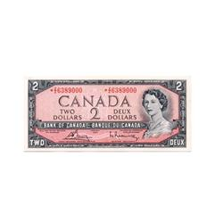 BANK OF CANADA.  $2.00.  1954 Issue.  BC-38cA.  Modified.  No. *Z/Z6389000.  Gem Unc.
