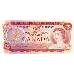 BANK OF CANADA.  $2.00.  1974 Issue.  BC-47aT.  Lawson-Bouey.  No. RS0168802.  PCGS graded VF-35.  A