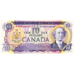 BANK OF CANADA.  $10.00.  1971 Issue.  BC-49bA.  No. *DR3168927.  PCGS graded Unc-63. PPQ.