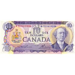 BANK OF CANADA.  $10.00.  1971 Issue.  BC-49cA.  No. *TC1419334.  PCGS graded Unc-62. PPQ.
