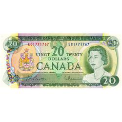 BANK OF CANADA.  $20.00.  1969 Issue.  BC-50a.  No. EC1771767. No. EP4895097.  Both CCCS graded Unc-