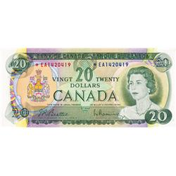 BANK OF CANADA.  $20.00.  1969 Issue.  BC-50aA.  No. *EA1420419.  PCGS graded Extra Fine-45. PPQ;  N
