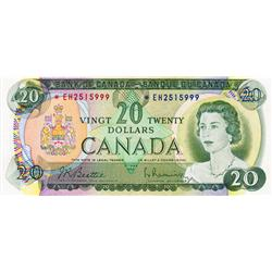 BANK OF CANADA.  $20.00.  1969 Issue.  BC-50aA.  No. *EH2515999.  PCGS graded AU-55.  PPQ.