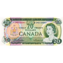 BANK OF CANADA.  $20.00.  1969 Issue.  BC-50aA.  No. *EM3125041.  PCGS graded CH AU-58.