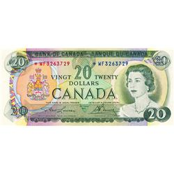BANK OF CANADA.  $20.00.  1969 Issue.  BC-50a.  No. *WF3263729.  PCGS graded Choice Unc-64. PPQ.