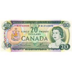 BANK OF CANADA.  $20.00.  1969 Issue.  BC-50aA.  No. *WL3162450.  PCGS graded Choice Unc-64. PPQ.