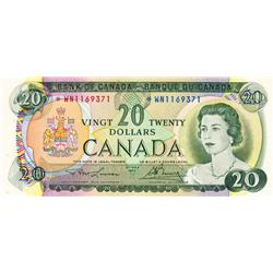 BANK OF CANADA.  $20.00.  1969 Issue.  BC-50aA.  No. *WN1169371.  PCGS graded AU-53.