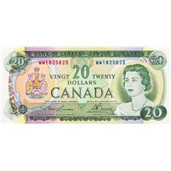 BANK OF CANADA.  $20.00.  1969 Issue.  BC-50b.  No. WW1825823.  BCS Original Unc-60;  No. WZ4842090.