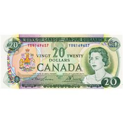 BANK OF CANADA.  $20.00.  1969 Issue.  BC-50b.  No. YB4169657,  YB4160658.  Both BCS graded Original