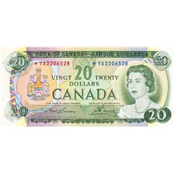 BANK OF CANADA.  $20.00.  1969 Issue.  BC-50bA.  No. *YA2206528.  CCCS graded Almost Unc-50.