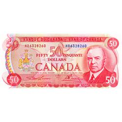 BANK OF CANADA.  $50.00.  1975 Issue.  BC-51a.  Lawson-Bouey.  No. HB6328260 * HB6328261.  Both CCCS