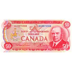 BANK OF CANADA.  $50.00.  1975 Issue.  BC-51a.  Lawson-Bouey.  No. HC3875308 & HC7286295.  Both CCCS
