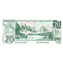 BANK OF CANADA.  $20.00.  1979 Issue.  BC-54a.  No. 50138165867  &50138165868.  Both notes are BCS g