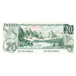 BANK OF CANADA.  $20.00.  1979 Issue.  BC-54a.  No. 50138165864 & 50138165865.  Two consecutive note