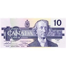 BANK OF CANADA.  $10.00.  1989 Issue.  BC-57aA.  Thiessen-Crow.  No.  ATX2170954.  PCGS graded Gem U