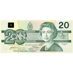BANK OF CANADA.  $20.00.  1991 Issue.  BC-58aA-i.  Thiessen-Crow.  No. EIX11958805. With Serif.  CCC