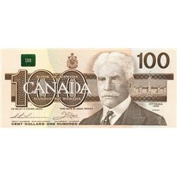 BANK OF CANADA.  $100.00.  1988 Issue.  BC-60a.  Thiessen-Crow.  No. AJT0247378.  Hidden BPN.  CCCS