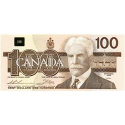 BANK OF CANADA.  $100.00.  1988 Issue.  BC-60a-i.  Thiessen-Crow.  No. BJE8657923. Clear BPN.  CCCS