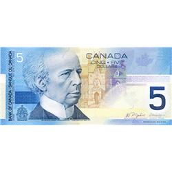 BANK OF CANADA.  $5.00.  2005 Issue.  BC-62bA.  Jenkins-Dodge.  No. HOU6907000.  Insert range 6.86M-