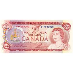 BANK OF CANADA.  $2.00.  1974 Issue.  BC-47a.  No. BY9000000.  PCGS graded Choice AU-50. PPQ.