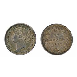 TWENTY CENTS.  1858.  Extra Fine-40.  Minor scratch at date.