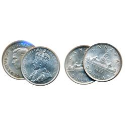 $1.00.  1936.  1937.  Both Mint State-62 or better.
