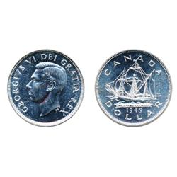 $1.00.  1949.  Mint State-65.  Brilliant.